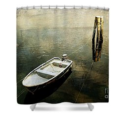 The Boat In Winter Shower Curtain