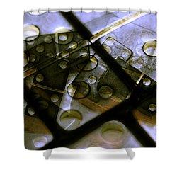 The Bone Pile Shower Curtain by Judi Bagwell