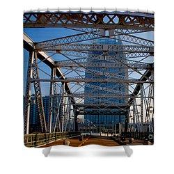 The Bridge In Nashville Shower Curtain by Susanne Van Hulst