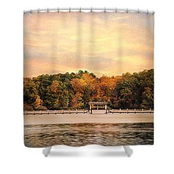 The Bridge Shower Curtain by Jai Johnson