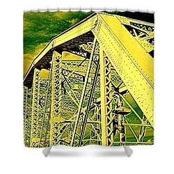 The Bridge To The Skies Shower Curtain by Susanne Van Hulst