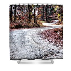 Shower Curtain featuring the photograph The Broken Road by Lynne Jenkins