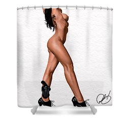 The Burner Shower Curtain by Pete Tapang