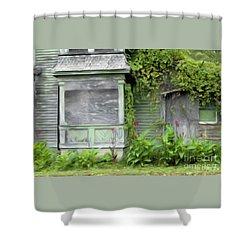 The Canna Farm Shower Curtain by Anne Kitzman