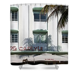 The Carlyle Hotel 2. Miami. Fl. Usa Shower Curtain