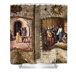 The Carpenters Son Shower Curtain by John Chatterley