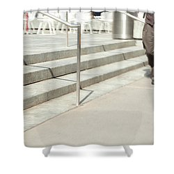 The Casual Strut Shower Curtain by Karol Livote