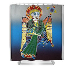 The Celtic Angel Shower Curtain by Jarle Rosseland