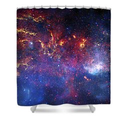 The Central Region Of The Milky Way Shower Curtain by Stocktrek Images