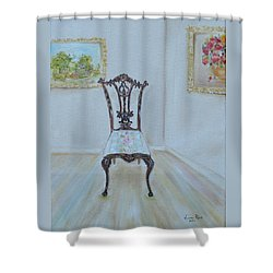 The Chair Shower Curtain by Judith Rhue