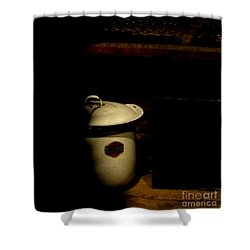 Shower Curtain featuring the photograph The Chamber Pot by Newel Hunter