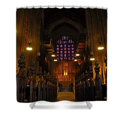 The Chapel At Valley Forge Park Shower Curtain by Cindy Manero