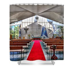 The Church Of Natural Light Hdr Shower Curtain by Douglas Barnard