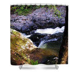 The Chutes At Union Village Shower Curtain by Sherman Perry