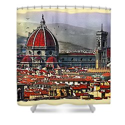 The City Of Florence Shower Curtain