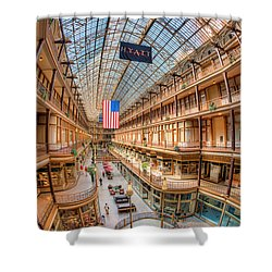 The Cleveland Arcade Iv Shower Curtain by Clarence Holmes