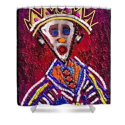 The Clown King Shower Curtain
