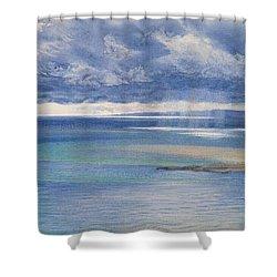 The Coast Of Sicily From The Taormina Cliffs Shower Curtain by John Brett