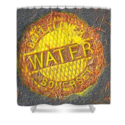 The Coming Water Wars Shower Curtain by John King