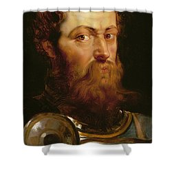The Commander's Head  Shower Curtain by Peter Paul Rubens