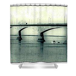 The Confederation Bridge Pei Shower Curtain by Edward Fielding