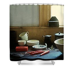 The Cook's Table Shower Curtain by RC deWinter