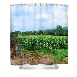 Shower Curtain featuring the photograph The Corn Field by Paul Mashburn
