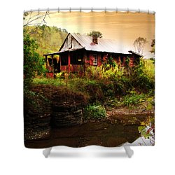 The Cottage By The Creek Shower Curtain by Lj Lambert