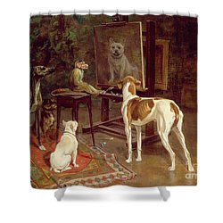 The Critics Shower Curtain by A Vimar