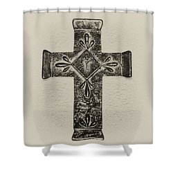 The Cross Shower Curtain by Bill Cannon