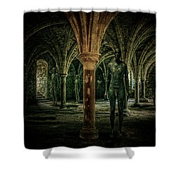 Shower Curtain featuring the photograph The Crypt by Chris Lord