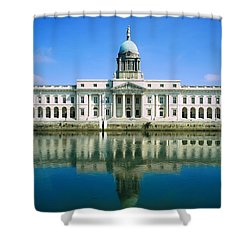 The Custom House, River Liffey, Dublin Shower Curtain by The Irish Image Collection