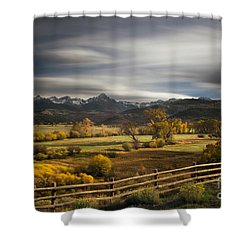 The Dallas Divide Shower Curtain