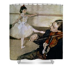 The Dance Lesson Shower Curtain