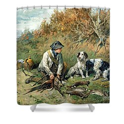 The Day's Bag Shower Curtain by John Emms