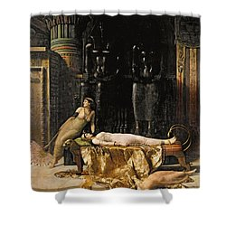 The Death Of Cleopatra  Shower Curtain by John Collier