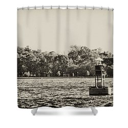 The Delaware River At Bristol Shower Curtain by Bill Cannon