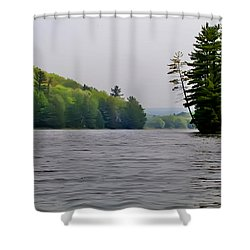 The Delaware River Shower Curtain by Bill Cannon