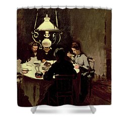 The Dinner Shower Curtain by Claude Monet