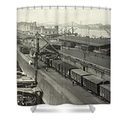 The Docks At Cologne - Germany - C. 1921 Shower Curtain by International  Images
