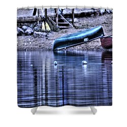Shower Curtain featuring the photograph The Dramatic Canoe Scene by Janie Johnson