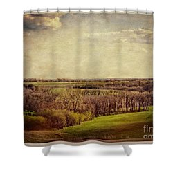 The Driftless Zone Shower Curtain by Mary Machare