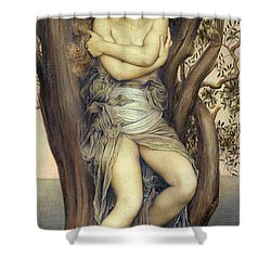 The Dryad Shower Curtain by Evelyn De Morgan