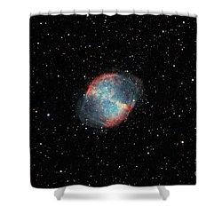 The Dumbbell Nebula Shower Curtain by Rolf Geissinger