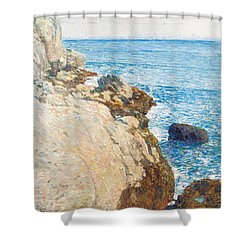 The East Headland Shower Curtain by Childe Hassam