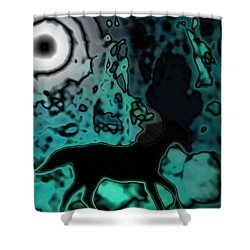 Shower Curtain featuring the photograph The Eclipsed Horse by Jessica Shelton