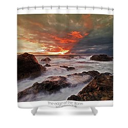 Shower Curtain featuring the photograph The Edge Of The Storm by Beverly Cash
