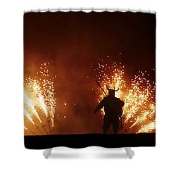 The Emergence Of The Devil Shower Curtain