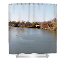 Shower Curtain featuring the photograph The Erie Canal Crossing The Genesee River by William Norton