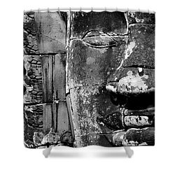 The Face Of Angkor Shower Curtain by Nola Lee Kelsey